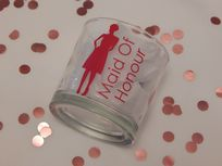 Personalised Wedding Tumbler Glass With Lady & Role